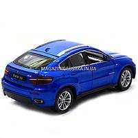 Машинка ігрова автопром «BMW X6» джип, метал, 18 см, чорний, світло, звук, двері відкриваються (7860), фото 3