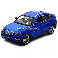 Машинка ігрова автопром «BMW X6» джип, метал, 18 см, чорний, світло, звук, двері відкриваються (7860), фото 4