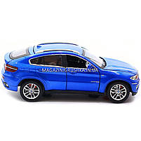 Машинка ігрова автопром «BMW X6» джип, метал, 18 см, чорний, світло, звук, двері відкриваються (7860), фото 6