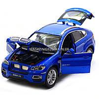 Машинка ігрова автопром «BMW X6» джип, метал, 18 см, чорний, світло, звук, двері відкриваються (7860), фото 7