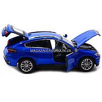 Машинка ігрова автопром «BMW X6» джип, метал, 18 см, чорний, світло, звук, двері відкриваються (7860), фото 8