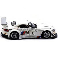 Машинка игровая автопром «BMW Z4 GT3», 18 см, свет, звук, двери открываются, белый (68251A), фото 3