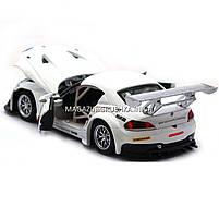 Машинка игровая автопром «BMW Z4 GT3», 18 см, свет, звук, двери открываются, белый (68251A), фото 6