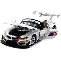 Машинка игровая автопром «BMW Z4 GT3», 18 см, свет, звук, двери открываются, белый (68251A), фото 8