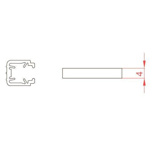 Ущільнювач для скла 4мм Універсальний, 3м
