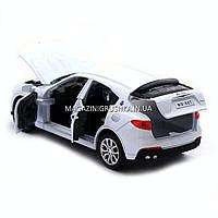 Машинка ігрова автопром «Maserati levante», 14 см, світло, звук, двері відкриваються, білий (7641), фото 3