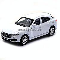 Машинка игровая автопром «Maserati levante», 14 см, свет, звук, двери открываются, белый (7641), фото 4