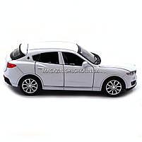 Машинка ігрова автопром «Maserati levante», 14 см, світло, звук, двері відкриваються, білий (7641), фото 8