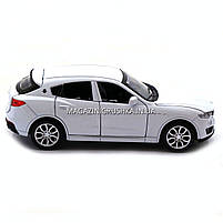 Машинка игровая автопром «Maserati levante», 14 см, свет, звук, двери открываются, белый (7641), фото 8