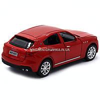 Машинка игровая автопром «Maserati levante», 14 см, свет, звук, двери открываются, красный (7641), фото 2
