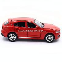 Машинка игровая автопром «Maserati levante», 14 см, свет, звук, двери открываются, красный (7641), фото 4