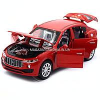 Машинка игровая автопром «Maserati levante», 14 см, свет, звук, двери открываются, красный (7641), фото 5