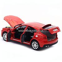 Машинка игровая автопром «Maserati levante», 14 см, свет, звук, двери открываются, красный (7641), фото 6