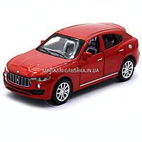 Машинка игровая автопром «Maserati levante», 14 см, свет, звук, двери открываются, красный (7641), фото 7