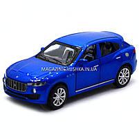 Машинка ігрова автопром «Maserati levante», 14 см, світло, звук, двері відкриваються, синій (7641), фото 2