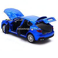 Машинка ігрова автопром «Maserati levante», 14 см, світло, звук, двері відкриваються, синій (7641), фото 4