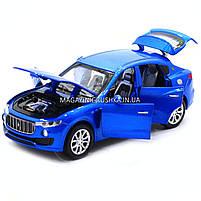 Машинка ігрова автопром «Maserati levante», 14 см, світло, звук, двері відкриваються, синій (7641), фото 7