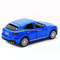 Машинка ігрова автопром «Maserati levante», 14 см, світло, звук, двері відкриваються, синій (7641), фото 8