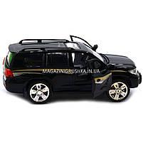 Машинка ігрова автопром «Toyota» Тойота джип, метал, 18 см, чорний (світло, звук, двері відкриваються) 7662, фото 2