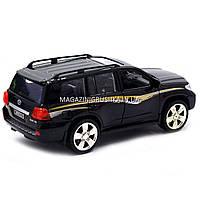 Машинка ігрова автопром «Toyota» Тойота джип, метал, 18 см, чорний (світло, звук, двері відкриваються) 7662, фото 3