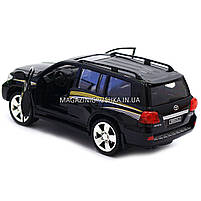 Машинка ігрова автопром «Toyota» Тойота джип, метал, 18 см, чорний (світло, звук, двері відкриваються) 7662, фото 5