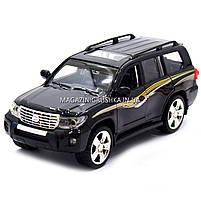 Машинка ігрова автопром «Toyota» Тойота джип, метал, 18 см, чорний (світло, звук, двері відкриваються) 7662, фото 6