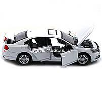 Машинка игровая автопром «Volkswagen Passat», 14 см, свет, звук, двери открываются, белый (6604), фото 2