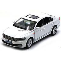 Машинка игровая автопром «Volkswagen Passat», 14 см, свет, звук, двери открываются, белый (6604), фото 3