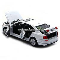 Машинка игровая автопром «Volkswagen Passat», 14 см, свет, звук, двери открываются, белый (6604), фото 4