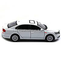 Машинка игровая автопром «Volkswagen Passat», 14 см, свет, звук, двери открываются, белый (6604), фото 5