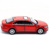 Машинка ігрова автопром «Volkswagen Passat», 14 см, світло, звук, двері відкриваються, червоний (6604), фото 3