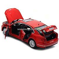 Машинка ігрова автопром «Volkswagen Passat», 14 см, світло, звук, двері відкриваються, червоний (6604), фото 4