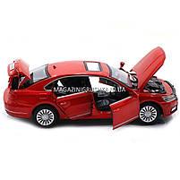 Машинка ігрова автопром «Volkswagen Passat», 14 см, світло, звук, двері відкриваються, червоний (6604), фото 5