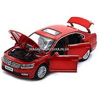 Машинка ігрова автопром «Volkswagen Passat», 14 см, світло, звук, двері відкриваються, червоний (6604), фото 6