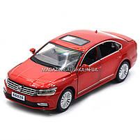 Машинка ігрова автопром «Volkswagen Passat», 14 см, світло, звук, двері відкриваються, червоний (6604), фото 7