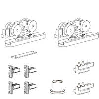 Комплект механізмів зі стопорами для серії 110 (вузький), 70 кг