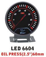 Дополнительный прибор Ket Gauge LED 6604 давление масла. Приборы для тюнинга
