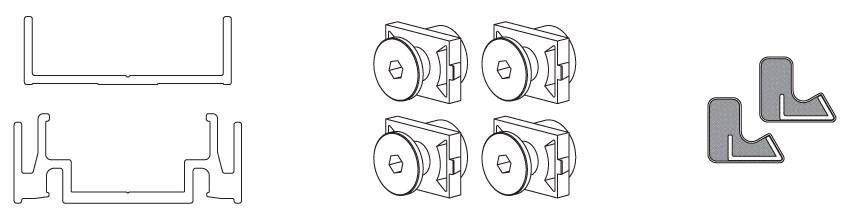 К-т профілів примикання New Universal GRFS, 2600 мм, графіт