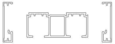 К-т верхньої направляючої New Universal (Eclettica), подвійний, 2400мм, GRFS, графіт