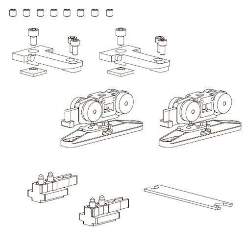 К-т механізмів Vetro 40 телескоп (тип С), зі стопорами (скло 8/10мм), 80кг (хв 600мм) new