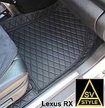 Килимки на Lexus RX Шкіряні 3D (XU30 2003-2009) Нові Оригінальні Лексус РХ 350, фото 6