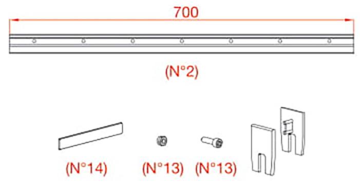 К-т власників Vetro 40, скло 8мм (700-799 мм), 100кг