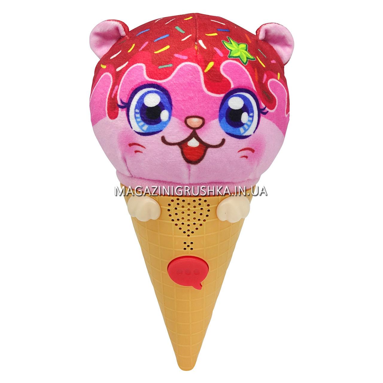 М'яка Ароматна іграшка-повторюшка ChatiCreams Морозиво Беккі Беррі (звук) (80685A)