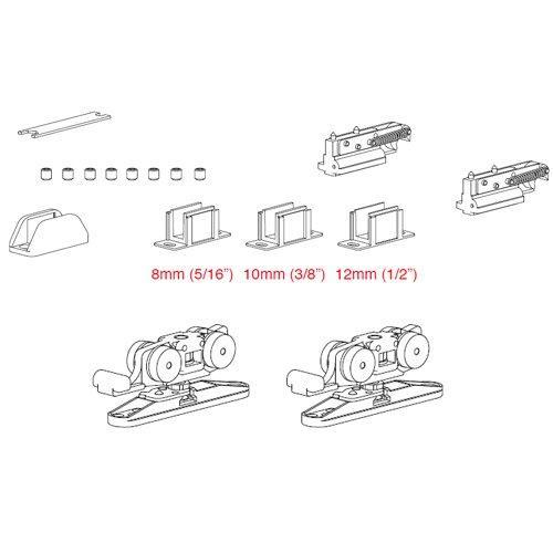 К-т механізмів Vetro 40 з 2-ма демферами (скло 8-10мм) двері хв. 620мм, 80кг
