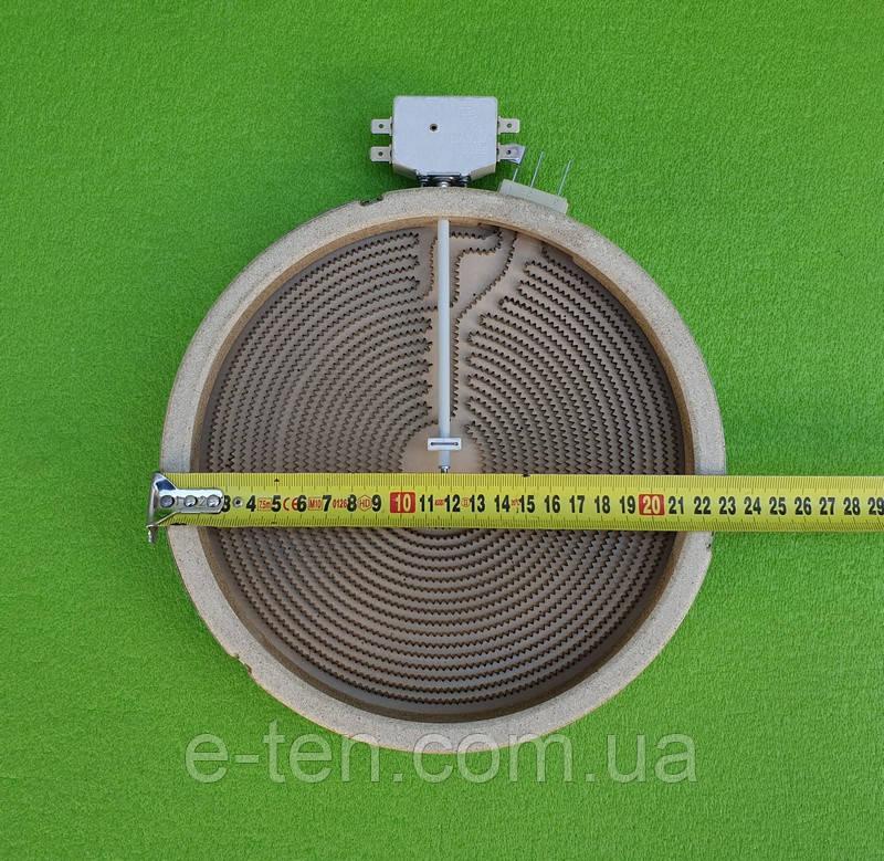 Электроконфорка Heatwell - Ø230мм (D8365) / 2200W (спирали 1000W+1200W) /230V (на 5 контактов) для электроплит