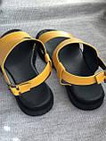 Яркие желтые босоножки из натуральной кожи, фото 4