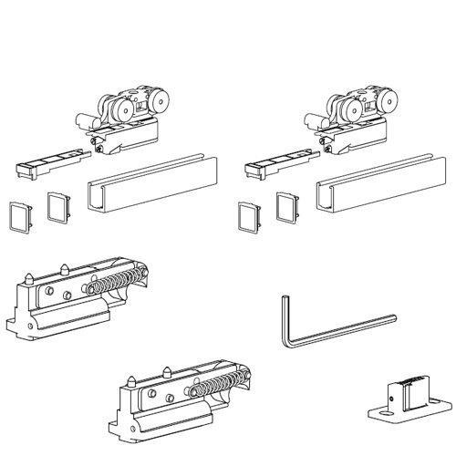 Комплект розд. системи Evolution, демпфер + демпфер (хв 700мм), 80кг (без арт.127)