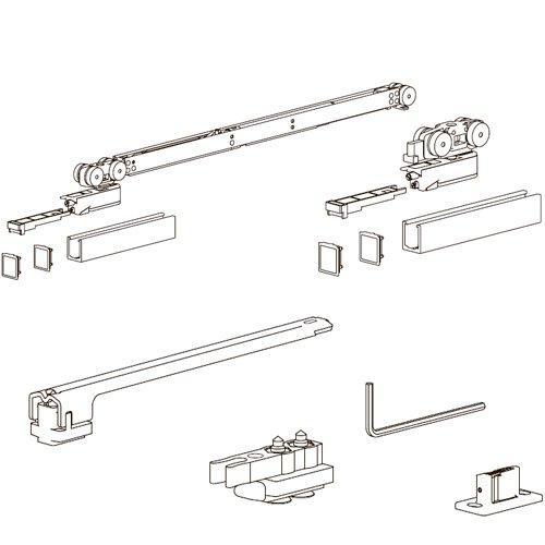 Комплект розд. системи Evolution, доводчик AIR + стопор (хв 700мм), 120кг (без арт. 127)