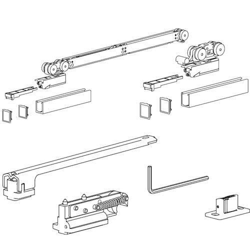 Комплект розд. системи Evolution, доводчик AIR + демпфер (хв 700мм), 80кг (без арт. 127)
