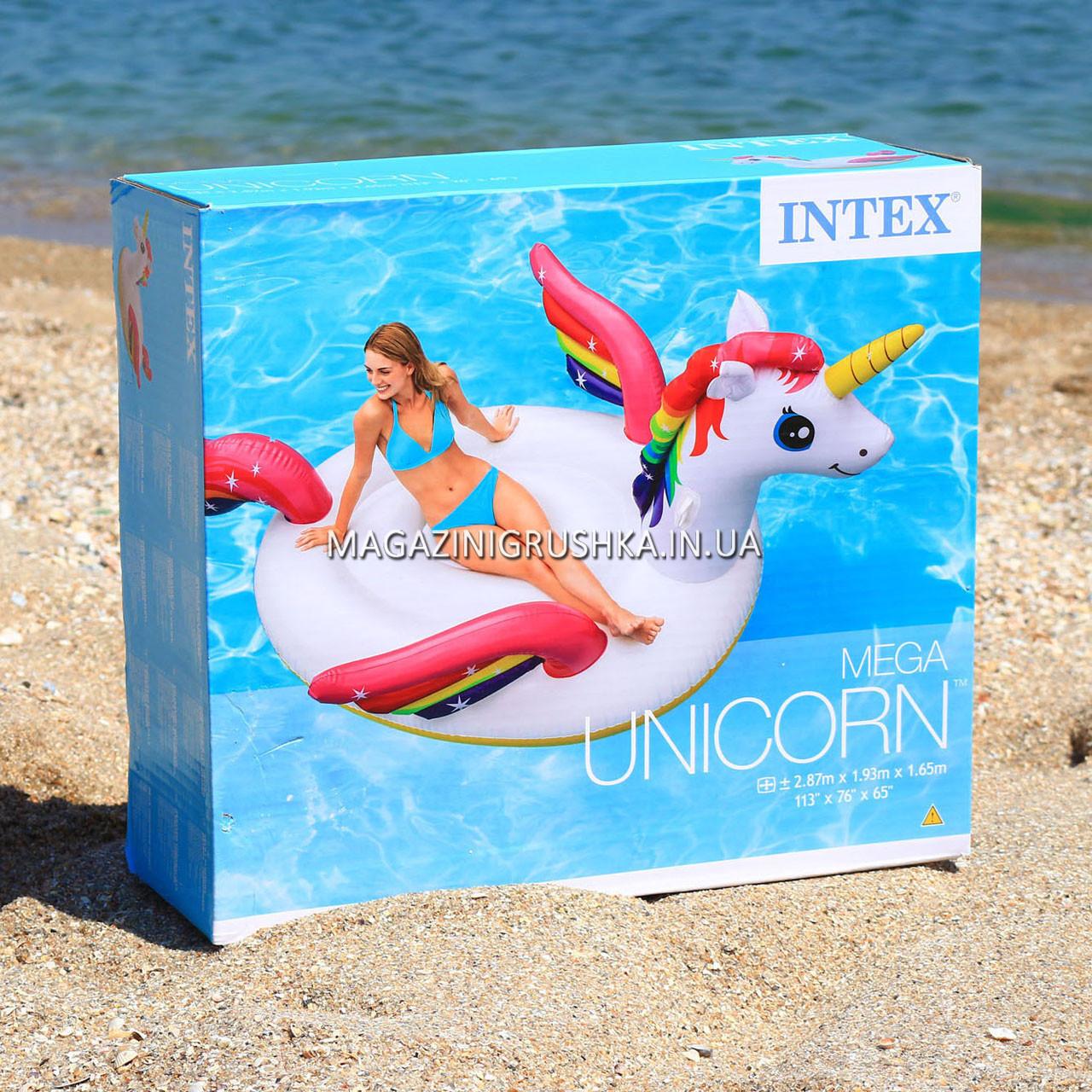 Надувной плот Intex 57281 Мега-остров Единорог Mega Unicorn Island